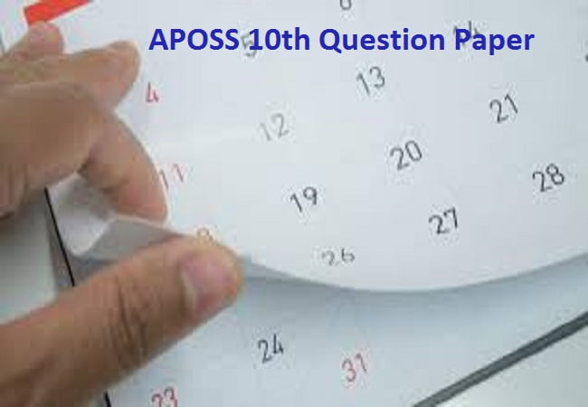 APOSS 10th Question Paper