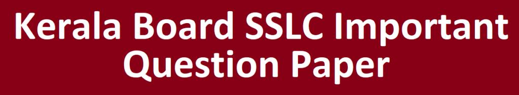 Kerala SSLC Model Paper 2021 Kerala 10th Question Paper 2021 Kerala SSLC Blueprint 2021